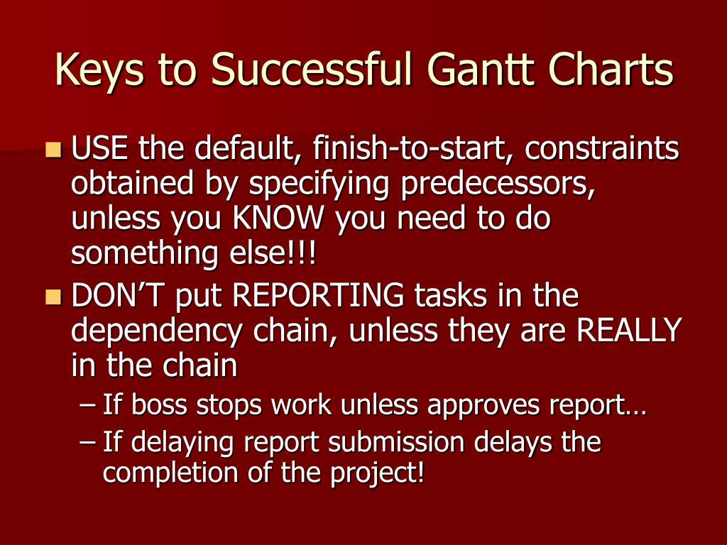 Keys to Successful Gantt Charts