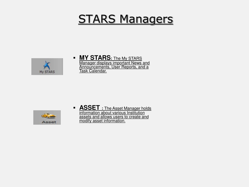 STARS Managers