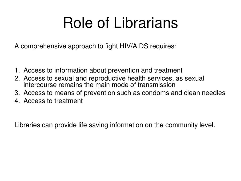 Role of Librarians