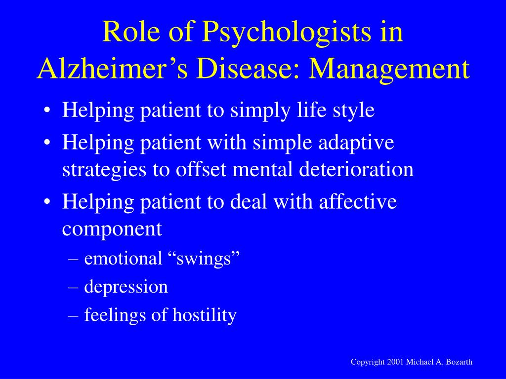Role of Psychologists in