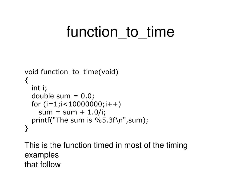 function_to_time