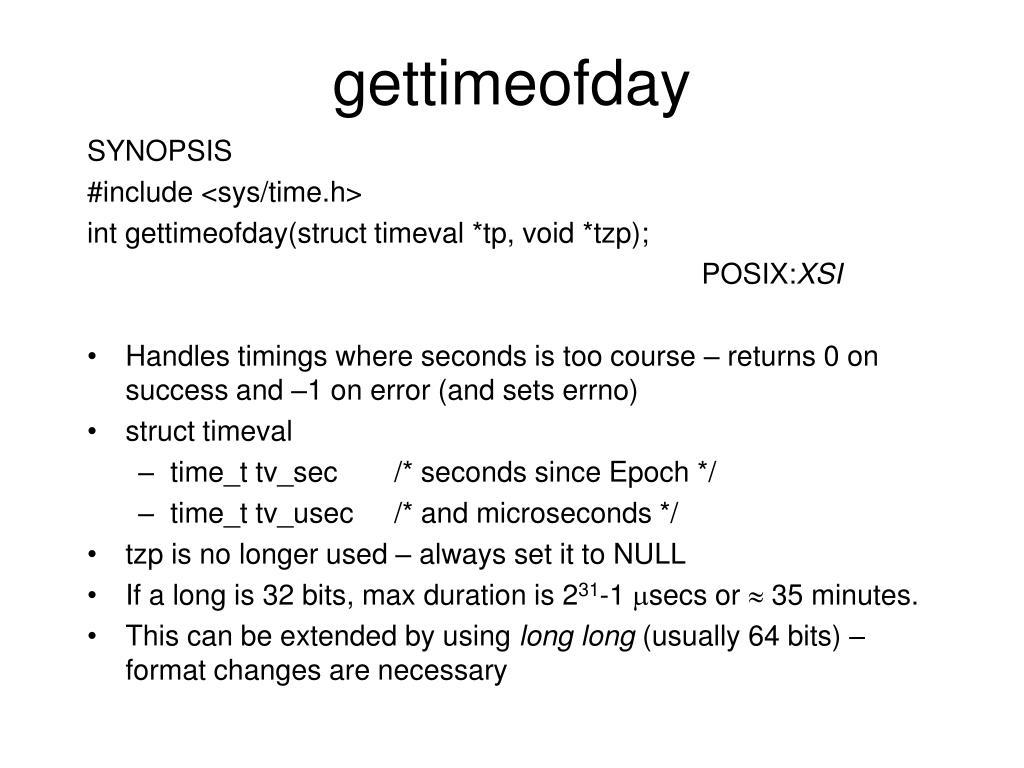 gettimeofday