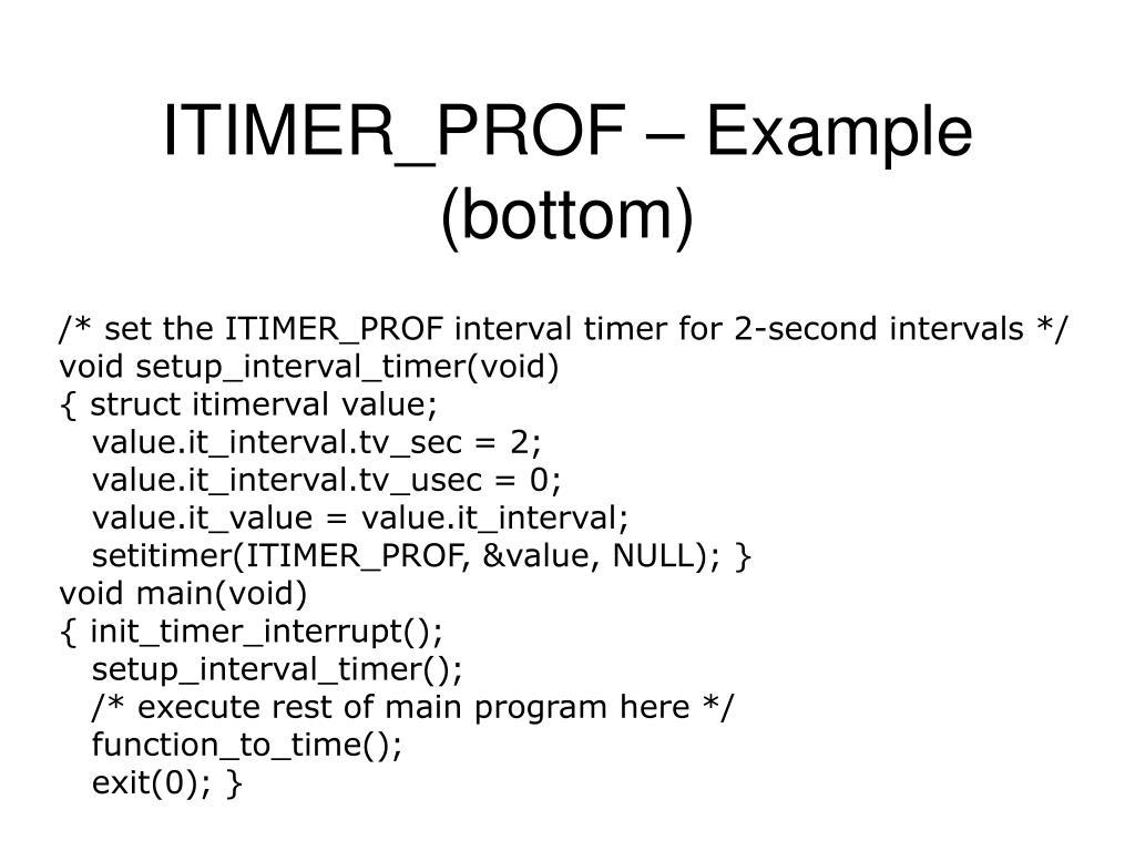 ITIMER_PROF – Example (bottom)