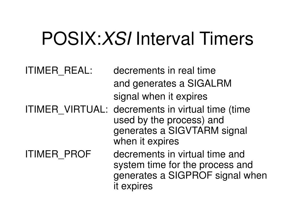 POSIX:
