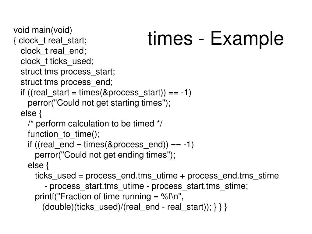 times - Example