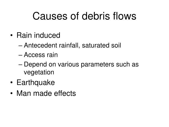 Causes of debris flows