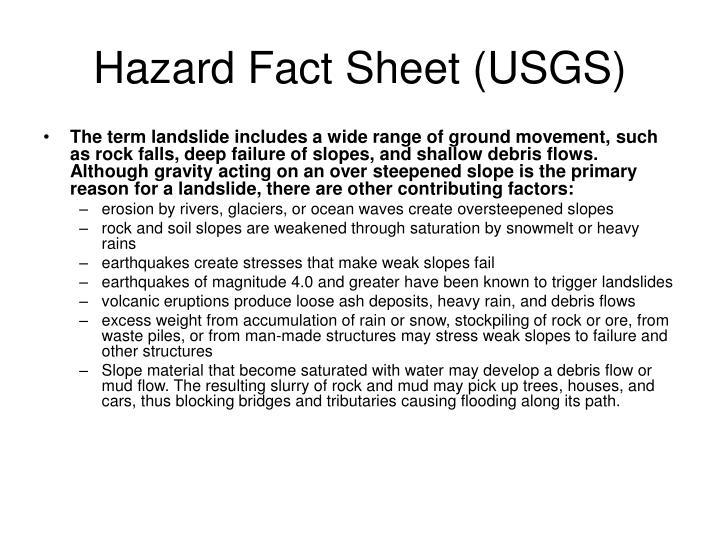 Hazard Fact Sheet (USGS)