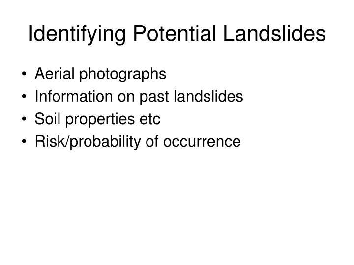 Identifying Potential Landslides
