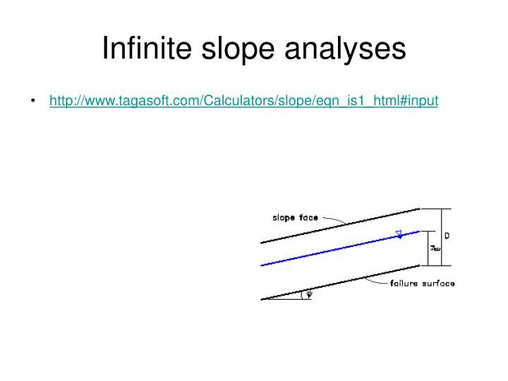 Infinite slope analyses