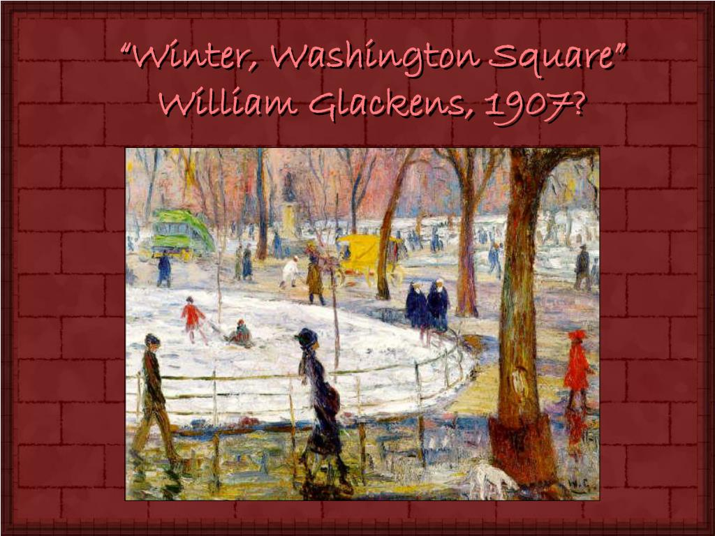 """Winter, Washington Square"""