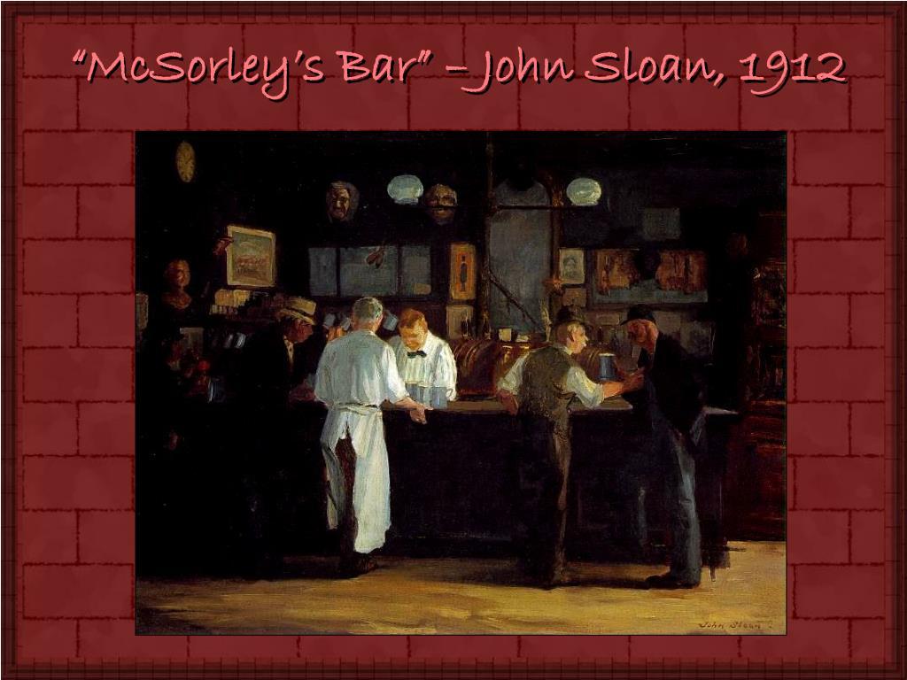 """""""McSorley's Bar"""" – John Sloan, 1912"""