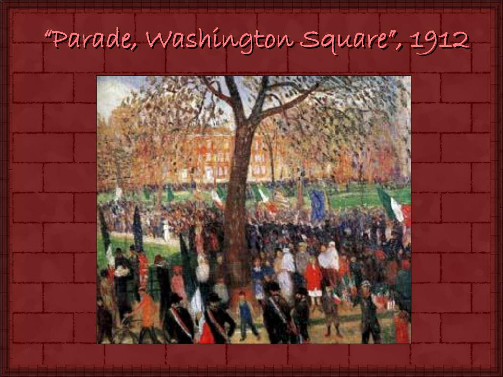 """Parade, Washington Square"", 1912"
