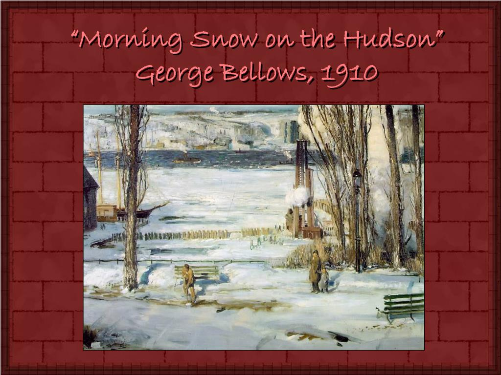 """Morning Snow on the Hudson"""