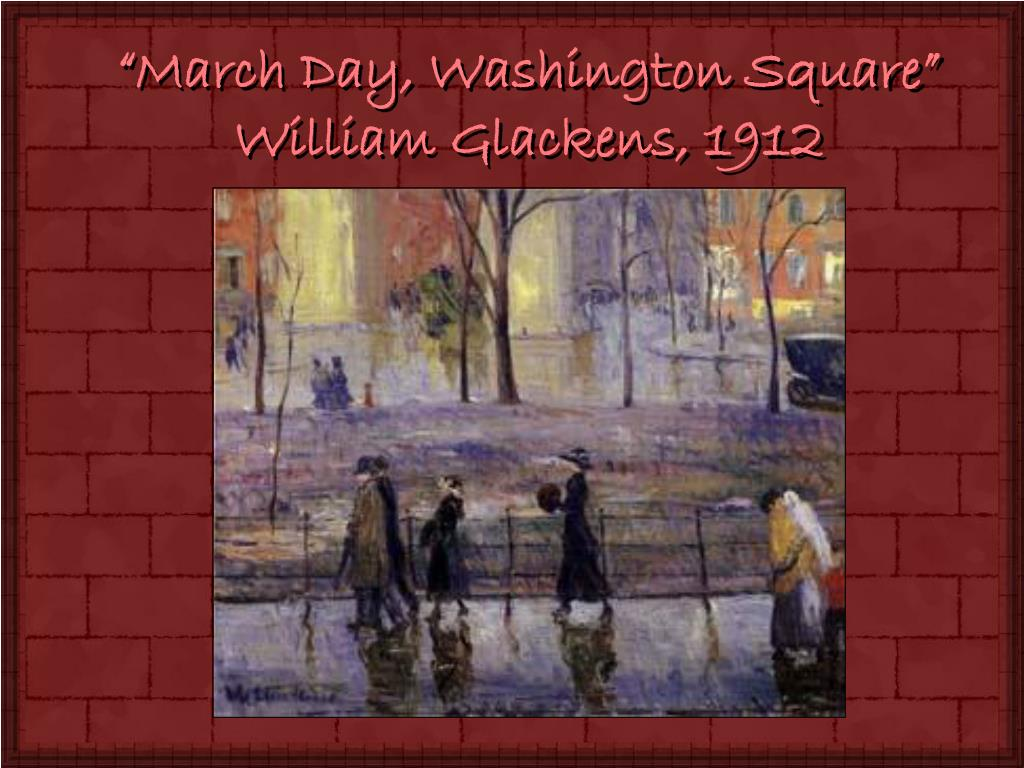"""March Day, Washington Square"""