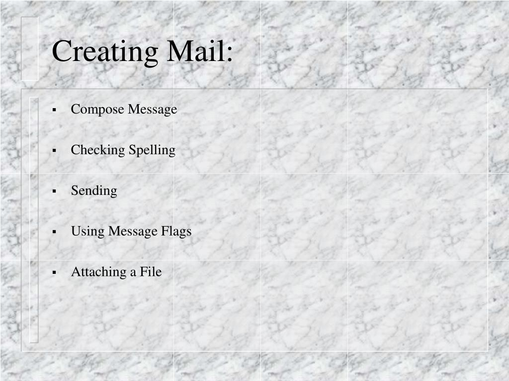 Creating Mail: