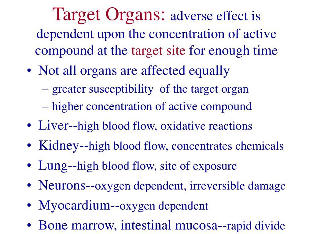 Target Organs: