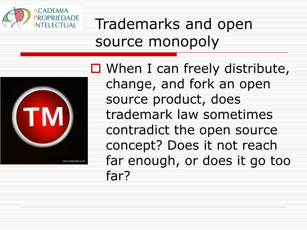 Trademarks and open source monopoly