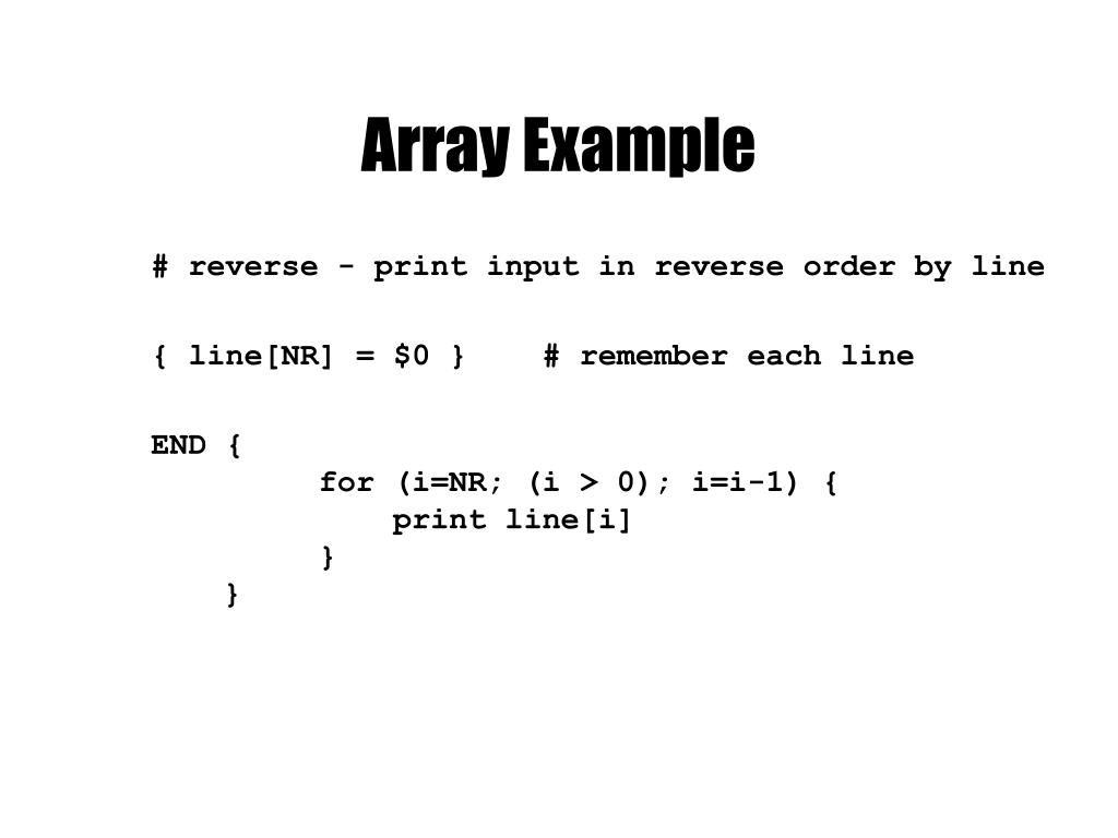 Array Example