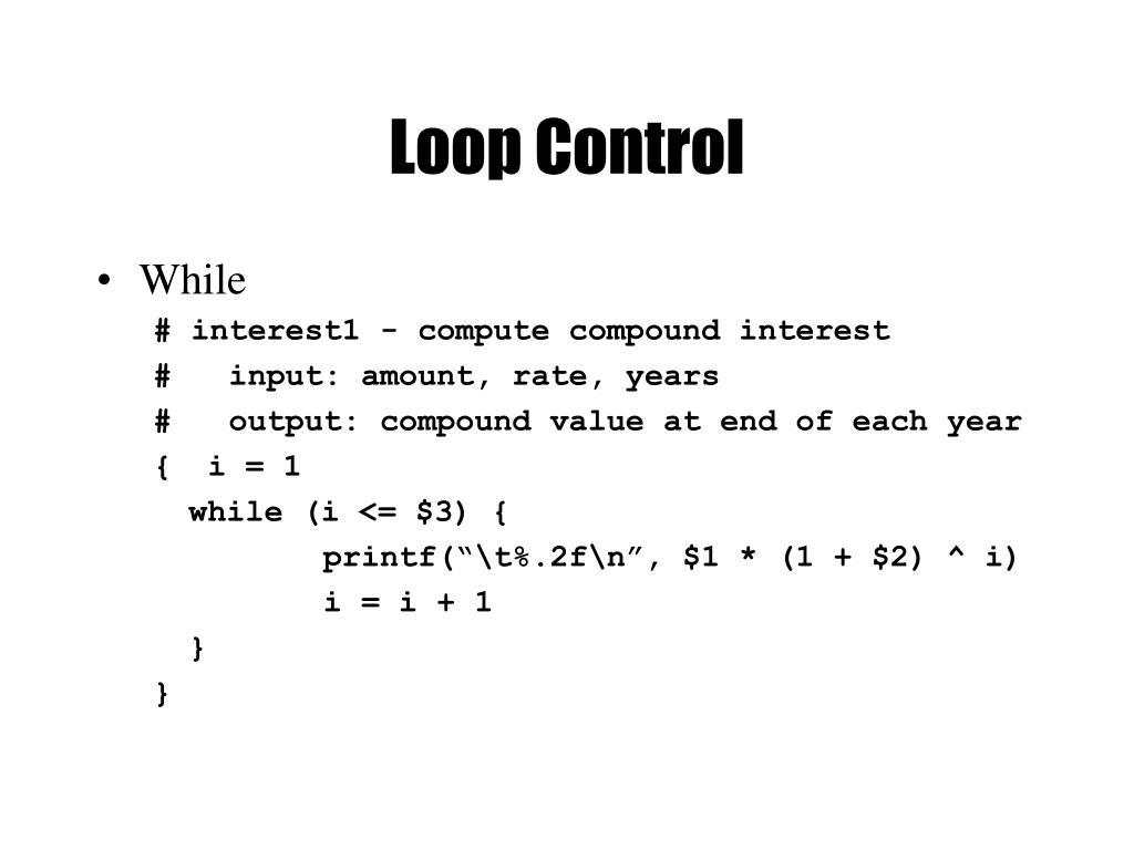 Loop Control