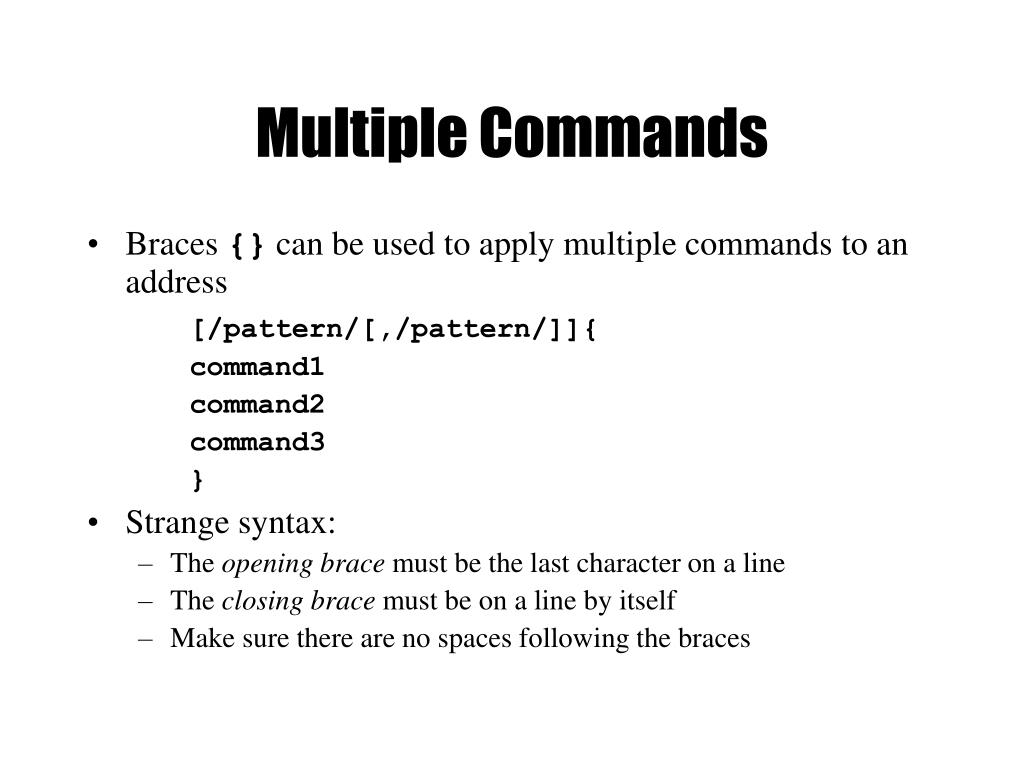 Multiple Commands