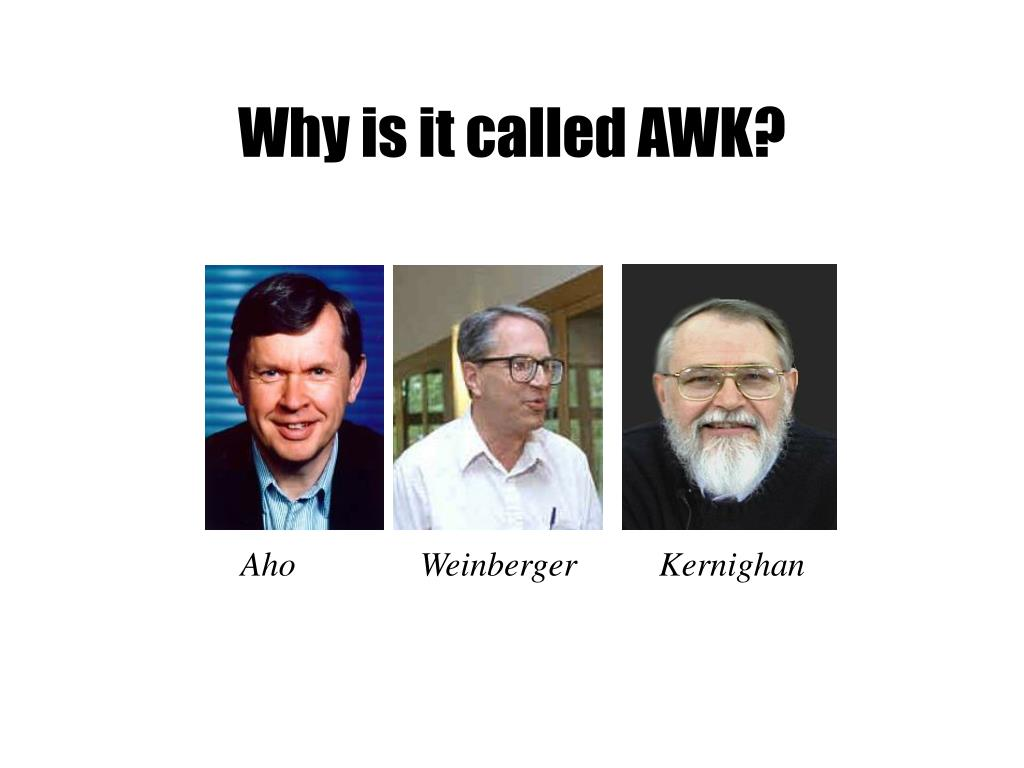 Why is it called AWK?
