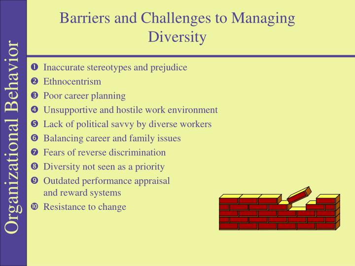 Barriers and Challenges to Managing Diversity