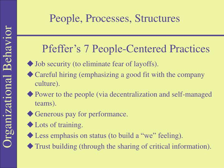 People processes structures