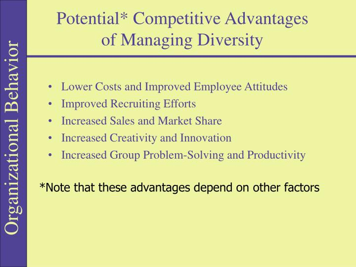 Potential* Competitive Advantages