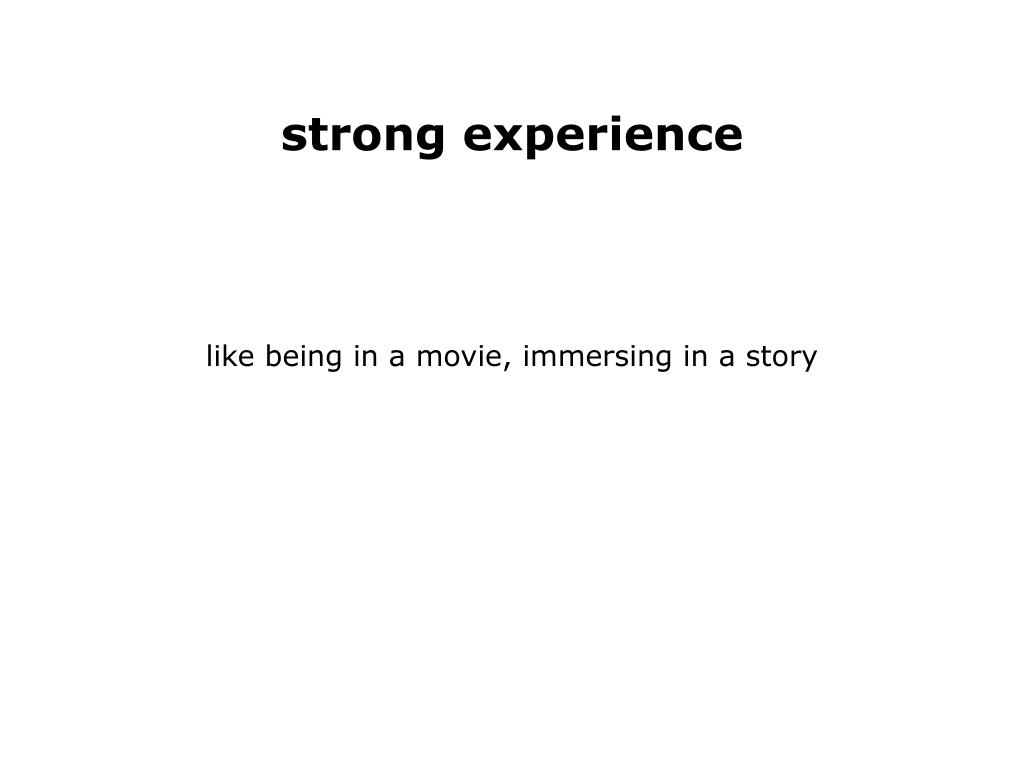 strong experience