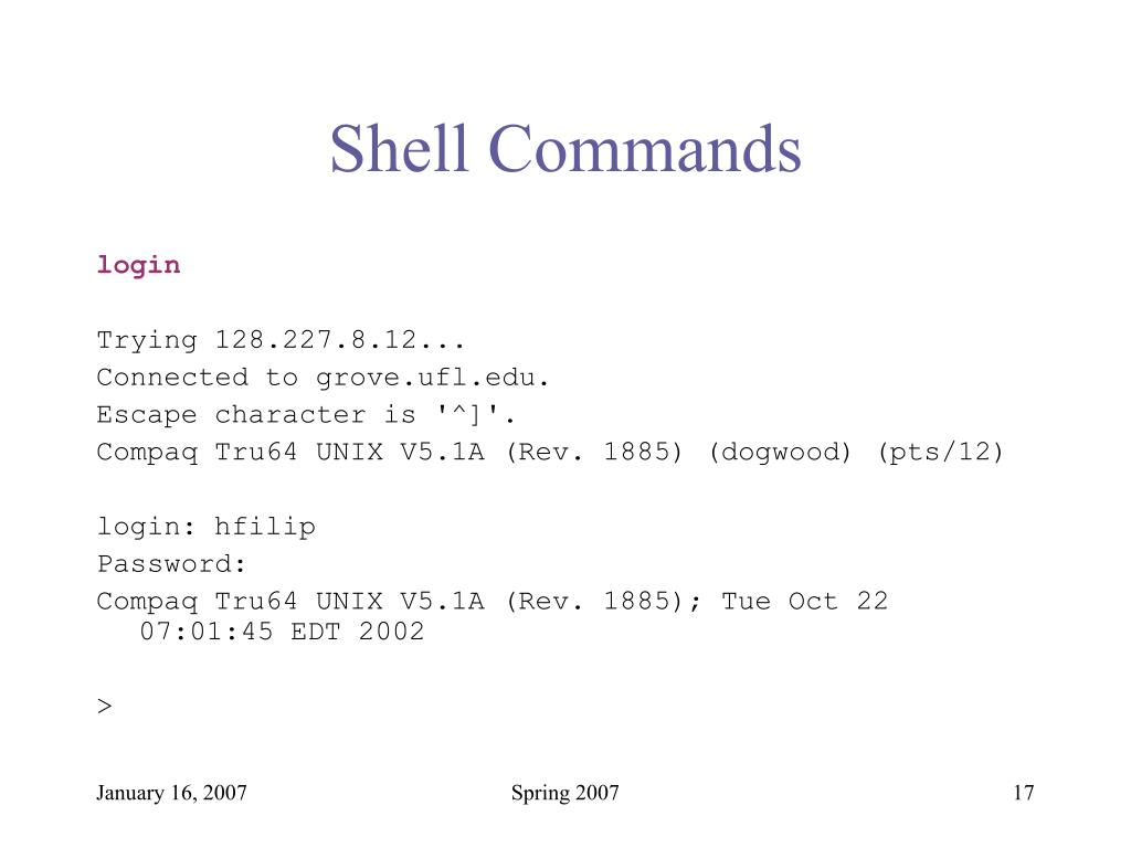 Shell Commands
