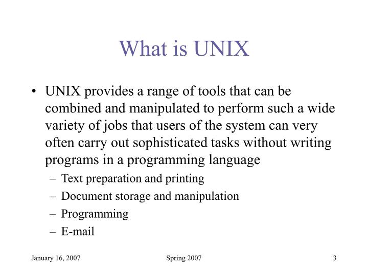 What is unix3