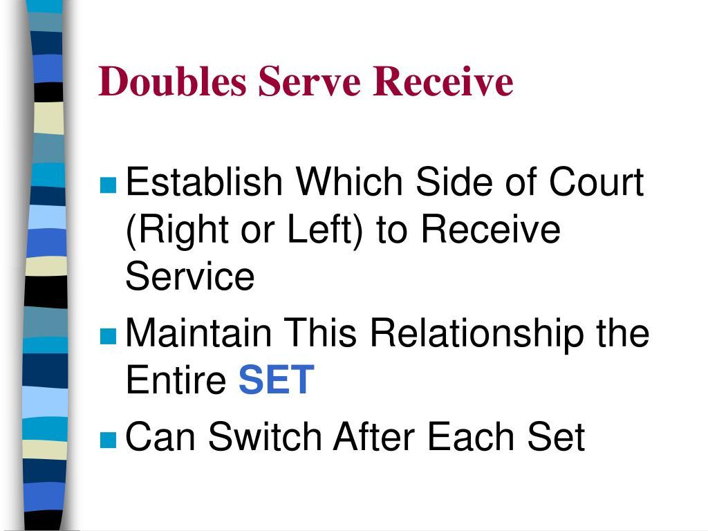 Doubles Serve Receive