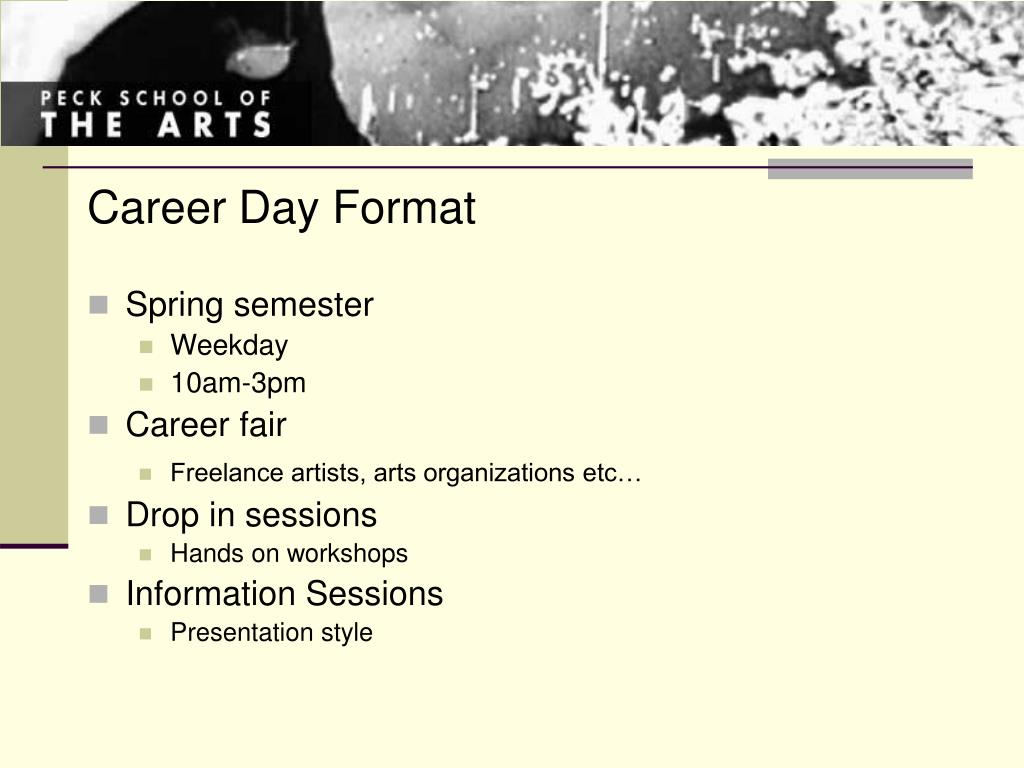 Career Day Format