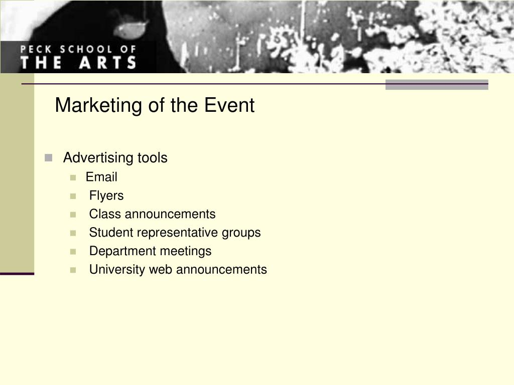 Marketing of the Event