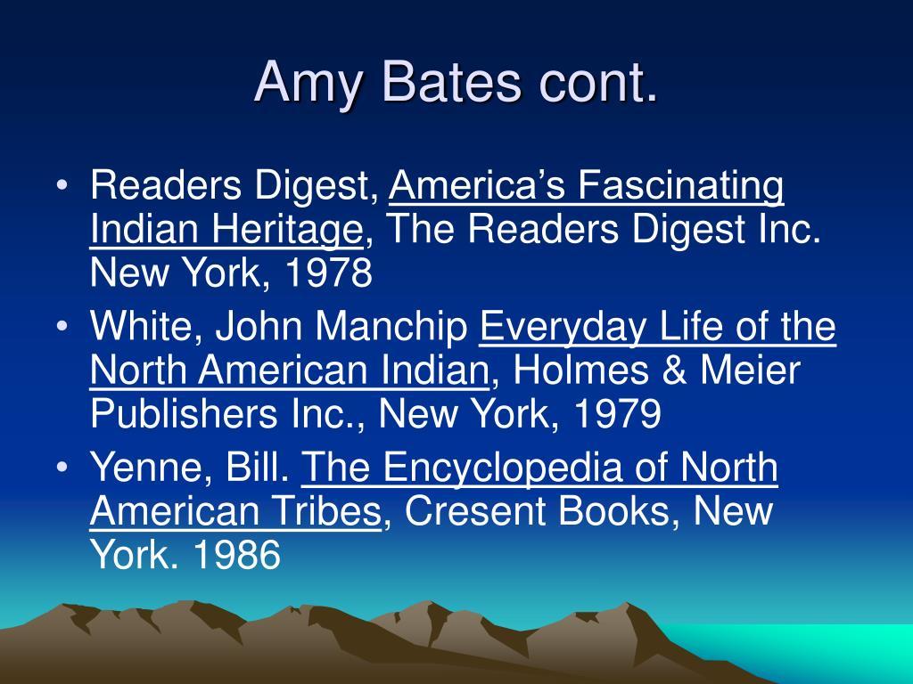 Amy Bates cont.