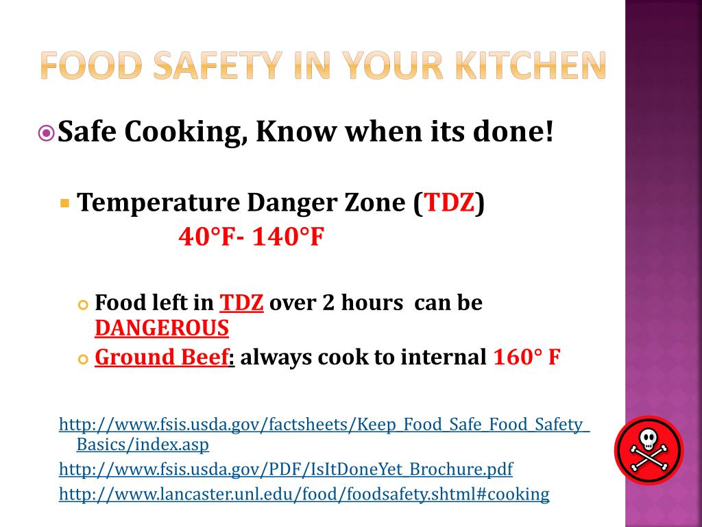 Food Safety In Your Kitchen
