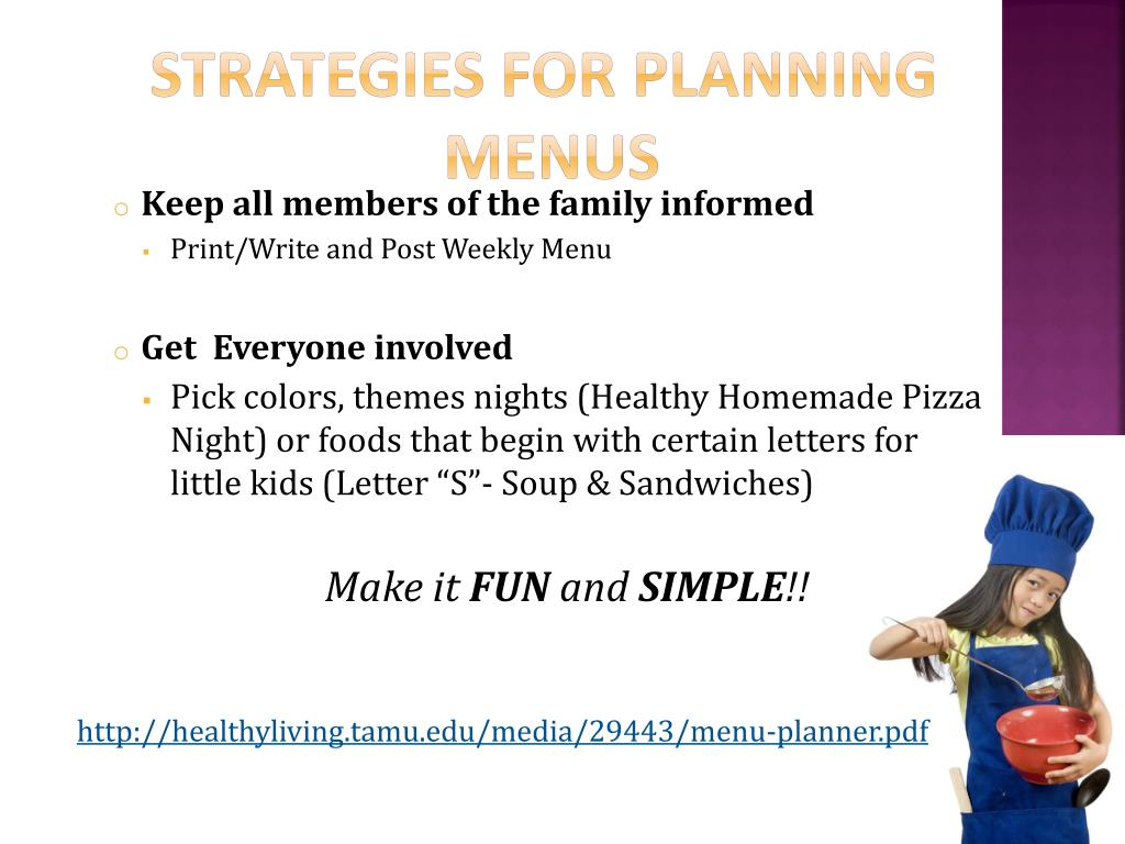 Strategies for planning