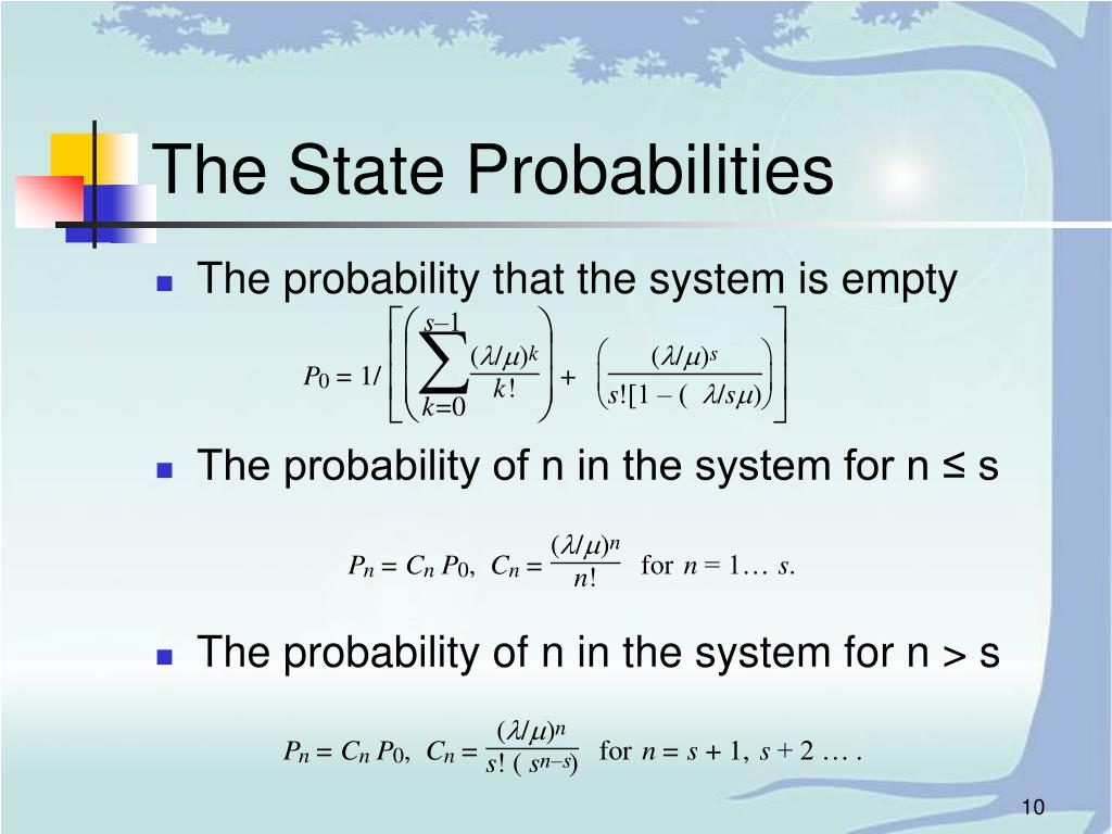 The State Probabilities