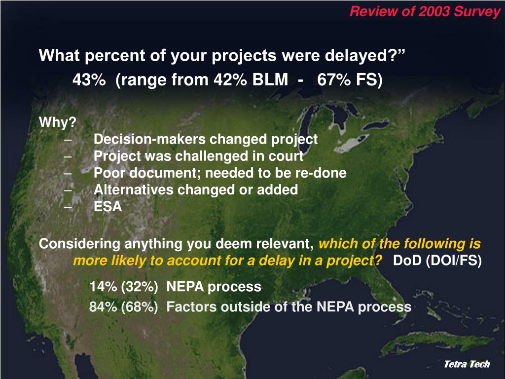Review of 2003 Survey