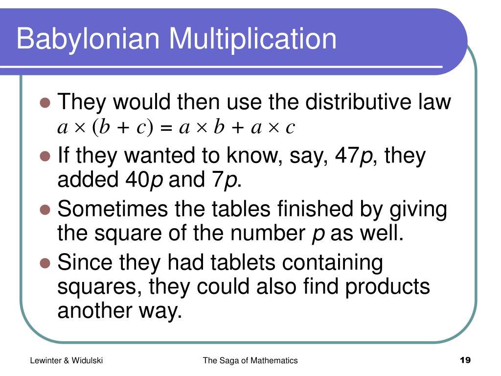 Babylonian Multiplication