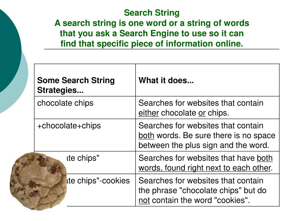 Search String