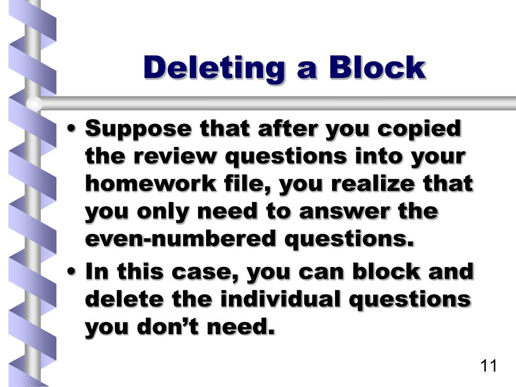 Deleting a Block