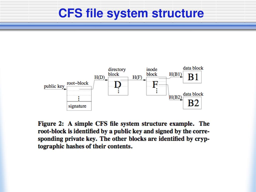 CFS file system structure