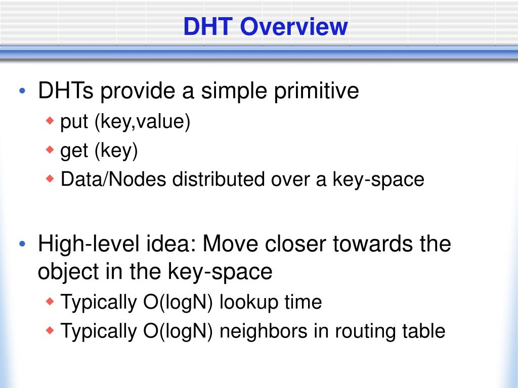 DHT Overview