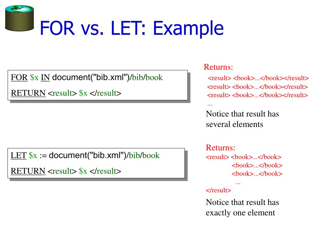 FOR vs. LET: Example