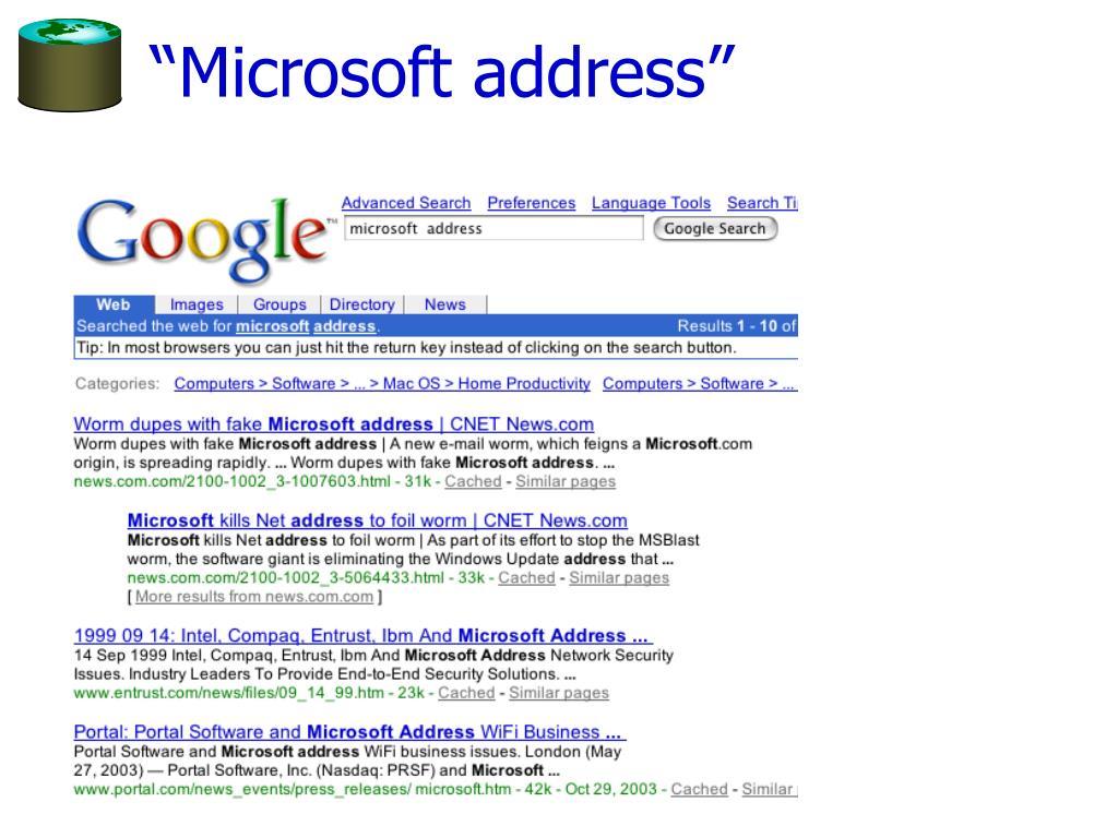 """Microsoft address"""
