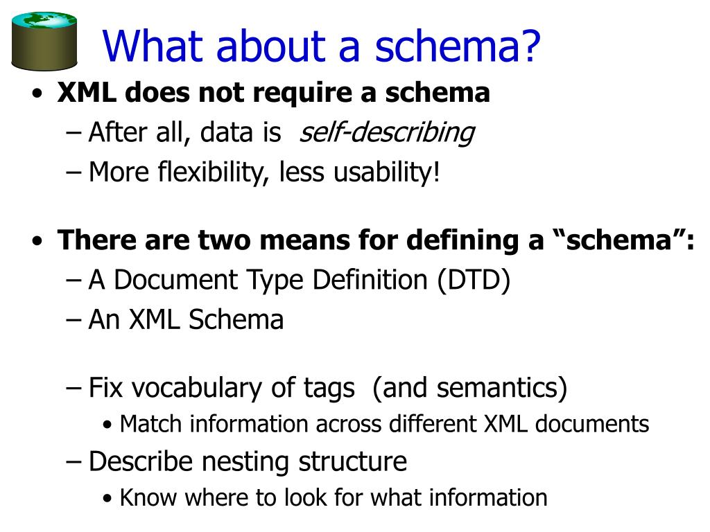 What about a schema?