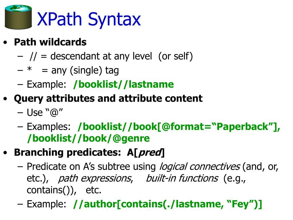 XPath Syntax