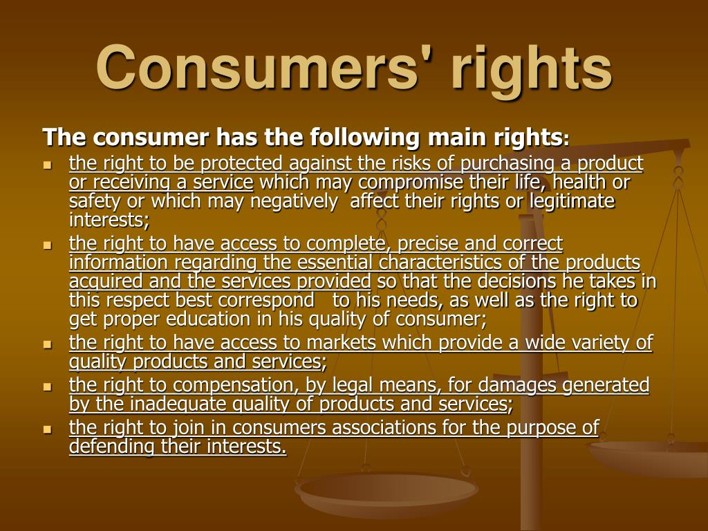 Consumers' rights