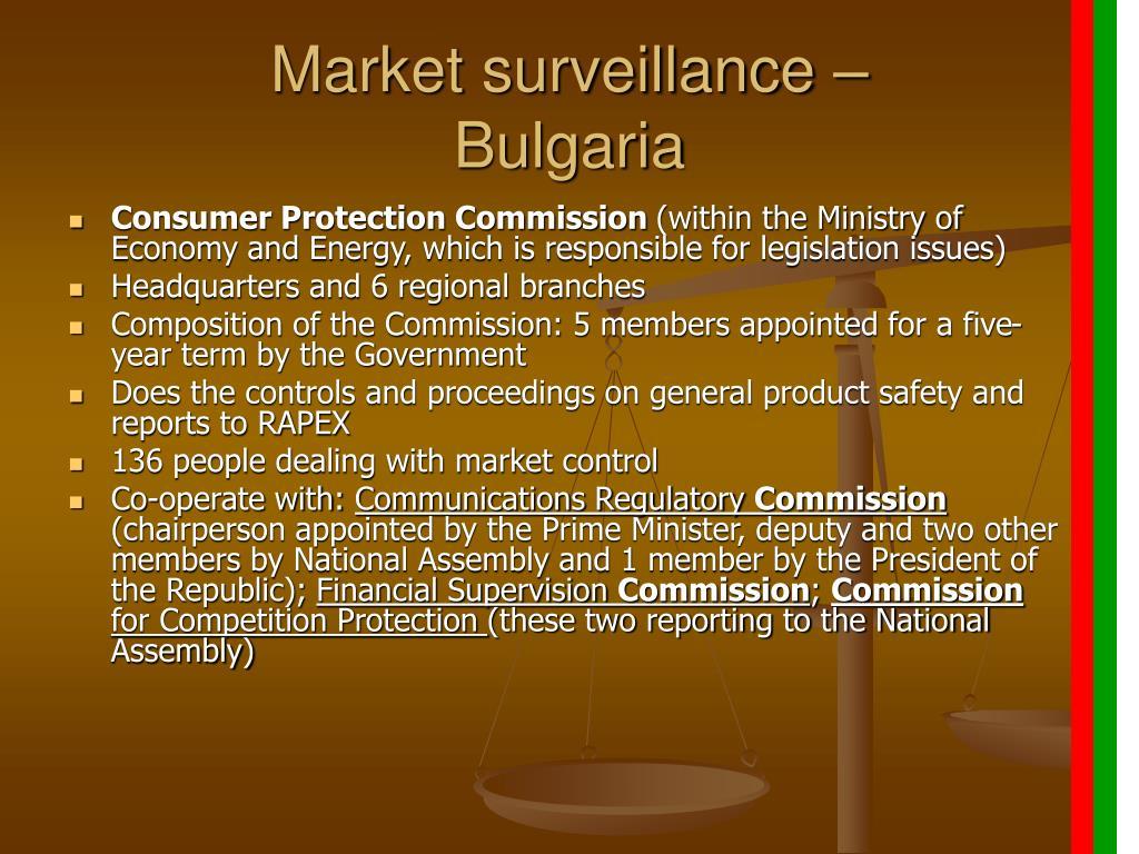 Market surveillance –